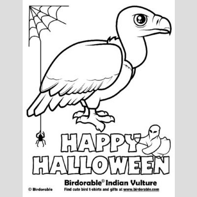 Halloween Indian Vulture Coloring Page sample