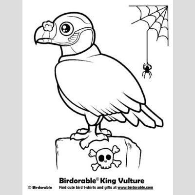 Halloween King Vulture Coloring Page sample