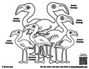 Flamboyance of Flamingos Coloring Page