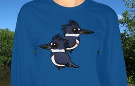 T-Shirt Tuesday: Pair of Belted Kingfishers