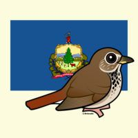 State Birdorable of Vermont: Hermit Thrush