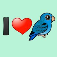 I Love Cobalt Lineolated Parakeets