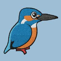 Common Kingfisher Embroidery