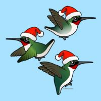 Christmas Ruby-throated Hummingbird