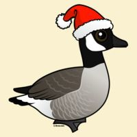 Christmas Canada Goose with Santa Hat