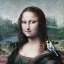 Mona Lisa & Budgies
