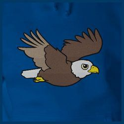 Flying Bald Eagle Embroidery