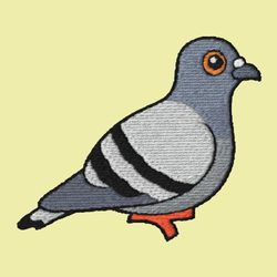 Rock Pigeon Embroidery
