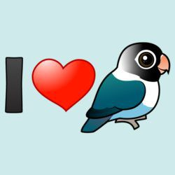 I Love Blue Masked Lovebirds