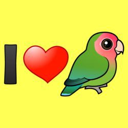 I Love Peach-faced Lovebirds