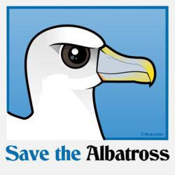 Save the Albatross (portrait)