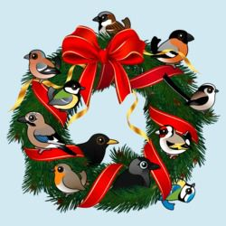 Birdorable European Garden Birds Christmas Wreath