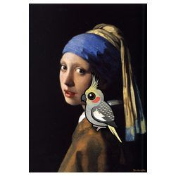 Girl with a Pearl Cockatiel
