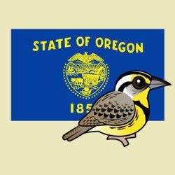 State Birdorable of Oregon: Western Meadowlark