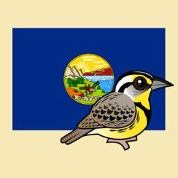 State Birdorable of Montana: Western Meadowlark