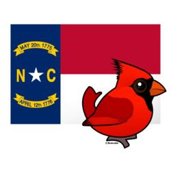 State Birdorable of North Carolina: Northern Cardinal