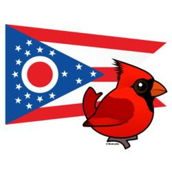 State Birdorable of Ohio: Northern Cardinal