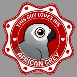 This Guy Loves His African Grey