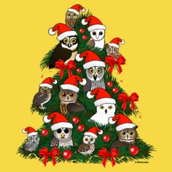 Owls Christmas Tree