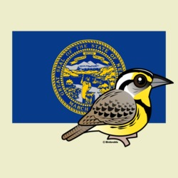 State Birdorable of Nebraska: Western Meadowlark