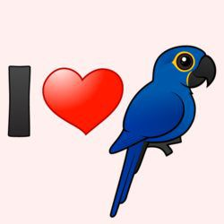 Customizable I Love Hyacinth Macaws