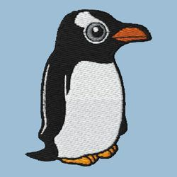 Gentoo Penguin Embroidery