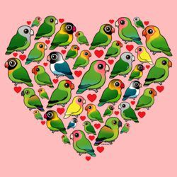 Heart of Lovebirds