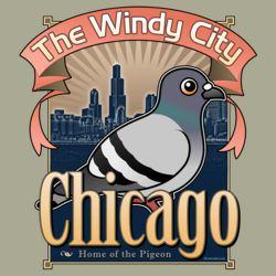 Customizable Chicago Pigeon