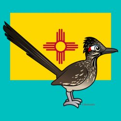 State Birdorable of New Mexico: Greater Roadrunner