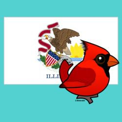 State Birdorable of Illinois: Northern Cardinal