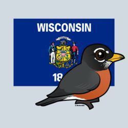State Birdorable of Wisconsin: American Robin
