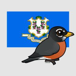 State Birdorable of Connecticut: American Robin