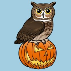 Halloween Great Horned Owl