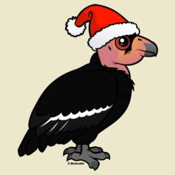 Cute California Condor Santa