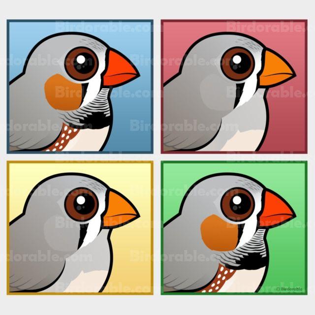 Find Cute Pop-Art Gifts Featuring Cartoon Zebra Finches