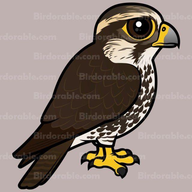 cute cartoon saker falcon apparel amp gifts by birdorable