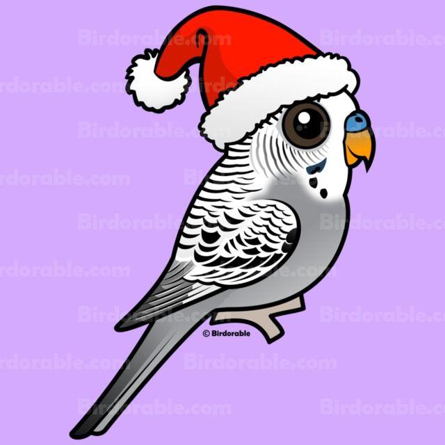 Cute Christmas Cartoon Grey Budgerigar T Shirts Amp Gifts
