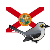 State Birdorable of Florida: Northern Mockingbird