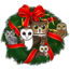 Birdorable Owls Christmas Wreath