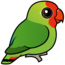 Birdorable Red-headed Lovebird