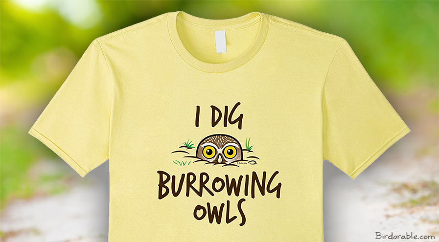 Birdorable I Dig Burrowing Owls design on Amazon t-shirt