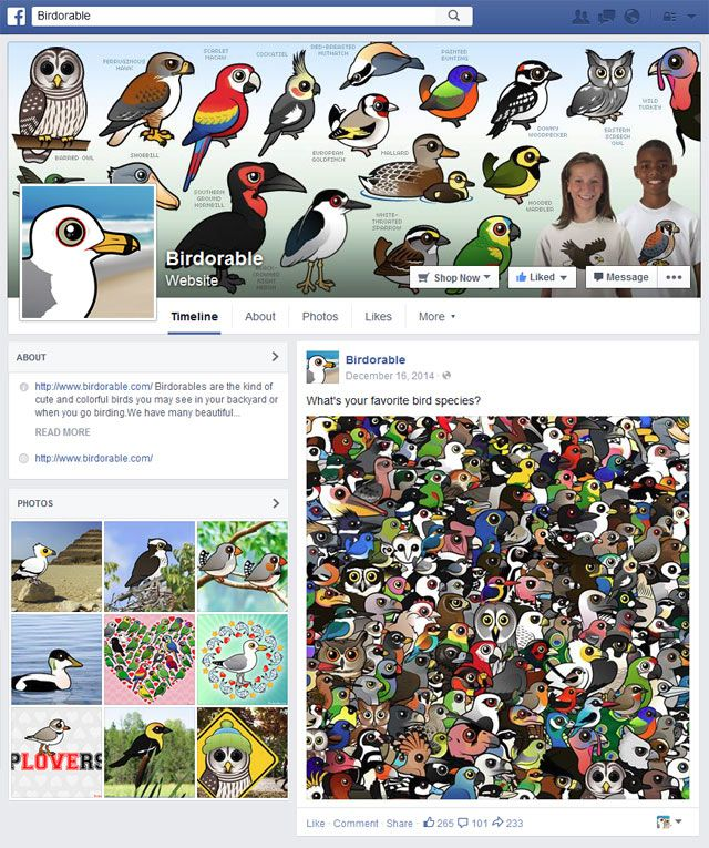 Birdorable Facebook page