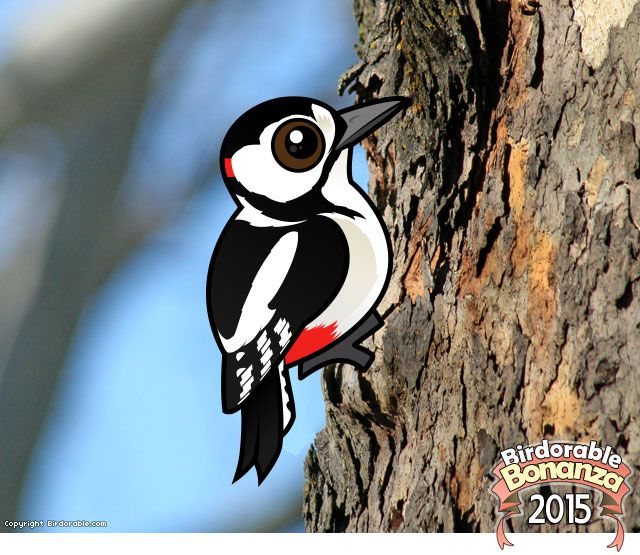 Birdorable Great Spotted Woodpecker