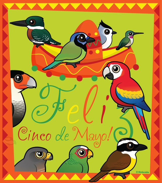 Feliz Cinco de Mayo with Birdorable birds