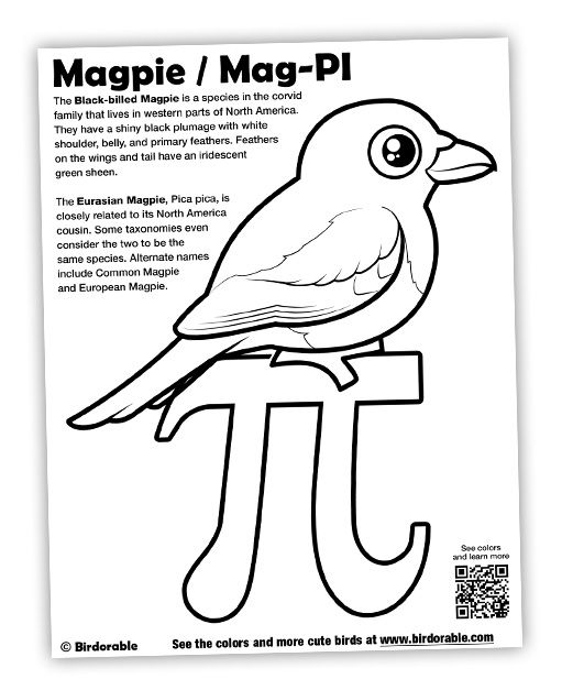 Birdorable Mag-PI Coloring Page
