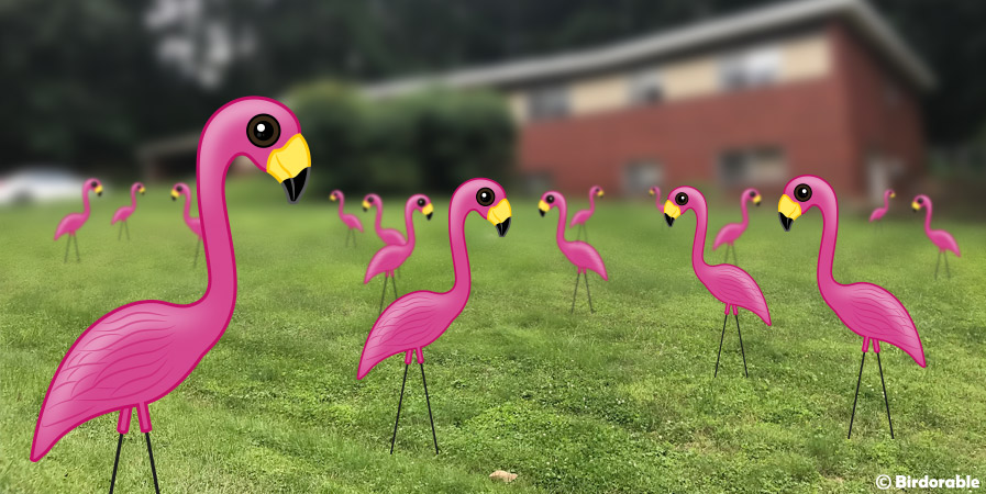 Birdorable Plastic Yard Flamingos