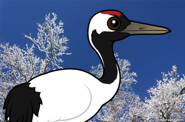 Birdorable Red-crowned Crane