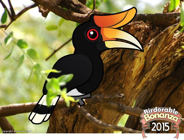 Birdorable Rhinoceros Hornbill