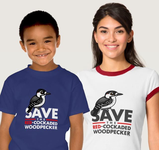 Save the Red-cockaded Woodpecker T-Shirts by Birdorable