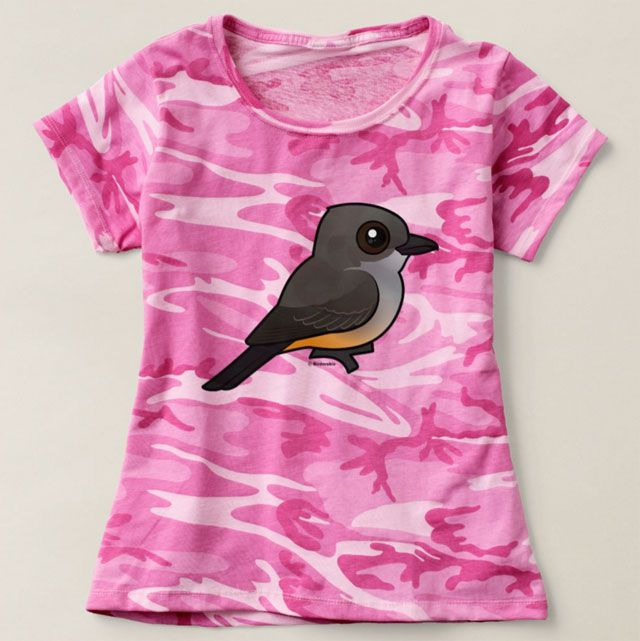 Say's Phoebe Camouflage T-Shirt by Birdorable